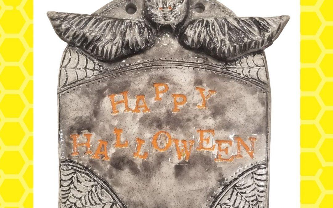 Halloween Clay Plaque